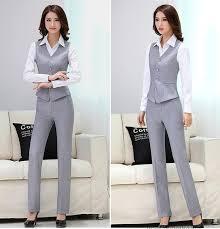 quality slim women u0027s grey black blazer pant female formal work