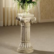 Wooden Patio Plant Stands by Plant Stand Dreaded Pillar Plant Stand Image Design Ceramic