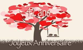 42 ans de mariage carte anniversaire mariage 42 ans arbre coeur