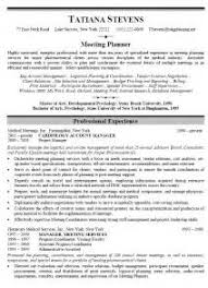 events planner resume example event planner resume samples