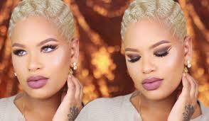 makeup u0026 hair tutorial brown eyes mauve lips u0026 easy