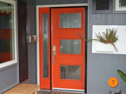 Modern Entry Doors by Contemporary Red Entry Door Therma Tru Smooth Star Model Pulse