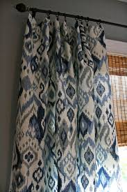 Blue Ikat Curtain Panels This Ikat Fabric By Swavelle Mill In Blue And White Makes