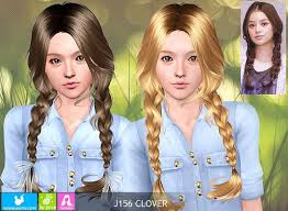 sims 3 hair custom content sims 3 updates newsea sims j156 clover hairstyle by newsea