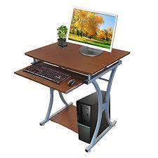 metal computer desks workstations kendan centaur walnut compact corner computer desk workstation