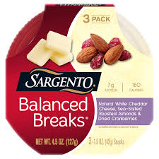 sargento balanced breaks white cheddar cheese almonds cranberries