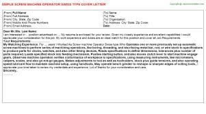 how to type cover letter machine operator swiss type cover letter
