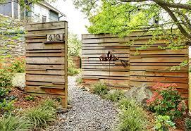 Backyard Fences Ideas Triyae Com U003d Contemporary Backyard Fences Various Design