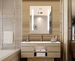 Illuminated Bathroom Wall Mirror Pretty Design Lighted Wall Mirror With Bathroom Home Improvement