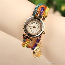bracelet watches with charms images Fashion star moon pendant watches luxury colored diamond wrap jpg