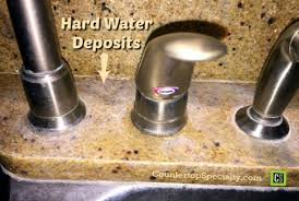 cleaning hard water stains on marble and granite