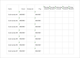 daily work schedule templates u2013 15 free word excel pdf format