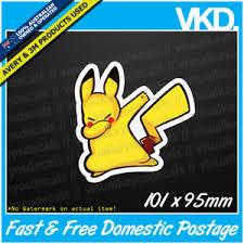 Funny Pikachu Memes - pikachu dabbing sticker decal dab funny meme spongebob vinyl