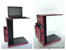 Couch Desk Table Diy Easy Rolling Laptop Desk For Working At Your Couch Diy Danielle