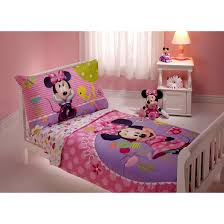 minnie mouse toddler bedding set small putting plastic minnie