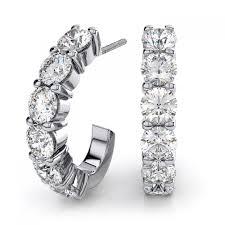 white gold diamond hoop earrings 60ctw diamond hoop earrings in 18k white gold vs g h