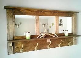 furniture coat rack with mirror and shelf wall mounted coat rack