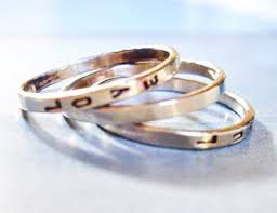 personalized gold rings three stacking 14k white gold rings personalized design your