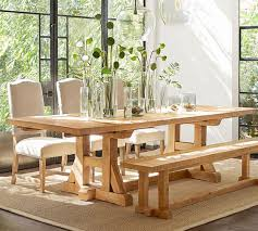 Extending Dining Room Table Stafford Reclaimed Pine Extending Dining Table Pottery Barn