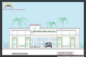 single floor house plan and elevation 2400 sq ft kerala