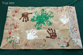 make your own wrapping paper handprint christmas wrapping paper true aim
