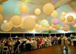 paper lanterns with lights for weddings paper lanterns for a tent reception lippincott blog