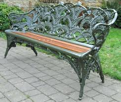 Homebase Garden Furniture Cast Iron Swan Park Bench 3metal Garden Benches For Sale Small