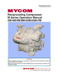manual of mycom compressors cylinder engine gas compressor