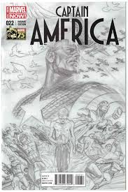captain america 22 1 300 alex ross sketch variant marvel now htf