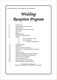 sle of wedding programs wedding program flow reception wedding ideas 2018