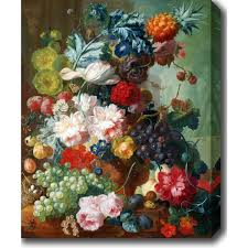 fruit and flowers jan os fruit and flowers in a terracotta vase on canvas