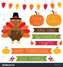 thanksgiving vector banners pumpkin frames turkey stock vector