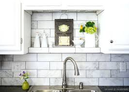 Carrara Marble Kitchen Backsplash Marble Tile Backsplash Pics Gorgeous Inspiration White Marble