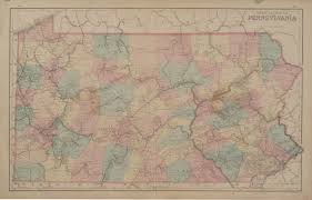Pennsylvania Counties Map by Antique Maps Of Pennsylvania Page 2