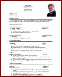 Sample English Teacher Resume by 14 Cv With No Experience Sample Sendletters Info