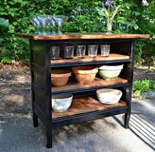 small chests repurposed as kitchen island antique dresser turned