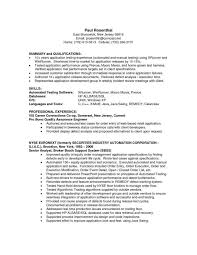 Sample Testing Resume For Experienced by Useful Materials For Regulatory Test Engineer Sample Resume 20 Qtp