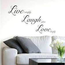 wall sticker ideas for living room live laugh wall decal wall