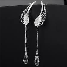 angel wing earrings aliexpress buy silver plated angel wing stylist