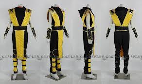 Scorpion Costume Custom Scorpion Cosplay Costume From Mortal Kombat Cosplayfu Com