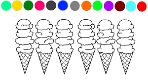 learn colors ice cream coloring page 2 for kids youtube