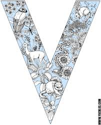 letter v coloring page by yuckles
