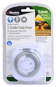 Westek Electric 30 Min In by Westek Tm01dhb Daily Timer White Plug In Timer Switches