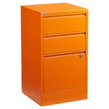 Orange Filing Cabinet Bisley Orange 2 3 Drawer Locking Filing Cabinets The