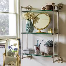 3 Tier Shelving Unit by Otto Antique Silver Three Tier Glass Shelf Bathroom Unit Graham