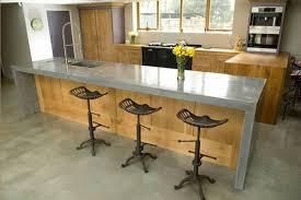 sol cuisine béton ciré ilot cetral de cuisine avec sol en béton citré et meubles de cuisine