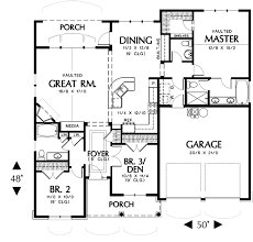 plan of house hollis 2432 3 bedrooms and 2 baths the house designers