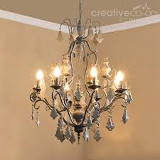 Camilla Chandelier Pottery Barn Wood Beads U0026 Painted Crystals Chandelier Creative Co Op Home