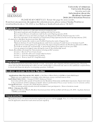 Pharmacy Residency Letter Of Intent Sample Resident Advisor Resume Resume For Your Job Application