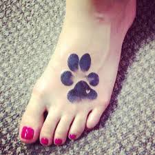 80 amazing dog paw tattoo design ideas tattoo fonts